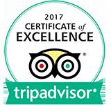 2017 TripAdvisor Certificate of Excellence Winner