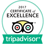 2017 TripAdvisor Certificate of Excellence Winner